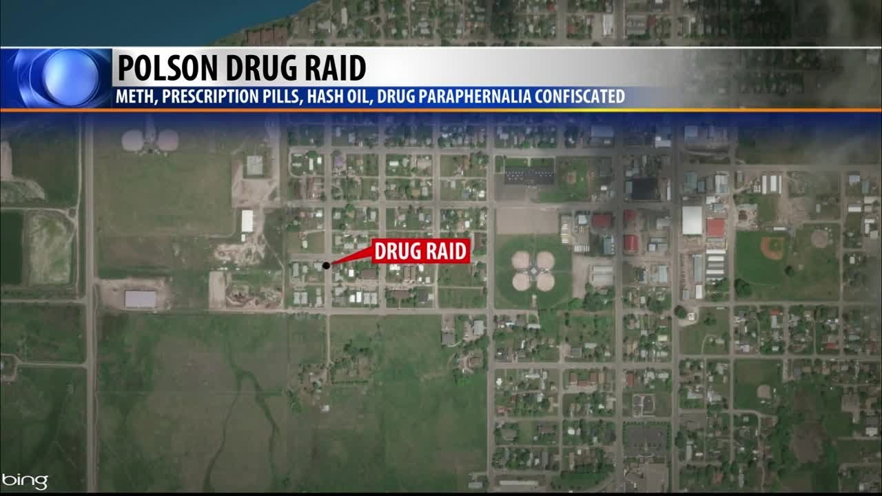Two arrested after Polson drug raid