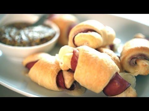 Ham & Swiss Cheese Crescent Rolls Recipe || KIN EATS