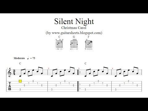 ♫ Silent Night ♫ Christmas carol ♫ TABS, NOTES, CHORDS !!!