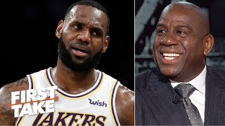 Magic Johnson dismisses rumors about Los Angeles looking to trade LeBron James and explains how LeBron mentored Lonzo Ball when he joined the Lakers. (3:41) Magic speculates about where big-name free agents will land this summer.  #FirstTake  ✔ Subscribe to ESPN on YouTube: http://es.pn/SUBSCRIBEtoYOUTUBE ✔ Subscribe to ESPN FC on YouTube: http://bit.ly/SUBSCRIBEtoESPNFC ✔ Subscribe to NBA on ESPN on YouTube: http://bit.ly/SUBSCRIBEtoNBAonESPN ✔ Watch ESPN on YouTube TV: http://es.pn/YouTubeTV  Exclusive interviews with Rachel Nichols https://urlzs.com/jNURe Stephen A. Smith on ESPN https://urlzs.com/W19Tz  ESPN on Social Media: ► Follow on Twitter: http://www.twitter.com/espn ► Like on Facebook: http://www.facebook.com/espn ► Follow on Instagram: www.instagram.com/f/espn  Visit ESPN on YouTube to get up-to-the-minute sports news coverage, scores, highlights and commentary for NFL, NHL, MLB, NBA, College Football, NCAA Basketball, soccer and more.   More on ESPN.com: http://www.espn.com