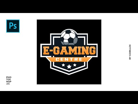 Soccer Sports Logo Design // Photoshop SpeedArt