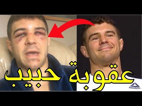 انتقام حبيب من المقاتل المغرور الذي استهزأ به وشتمه قبل النزال (هذه عقوبة من يستخف بالنسر المسلم)