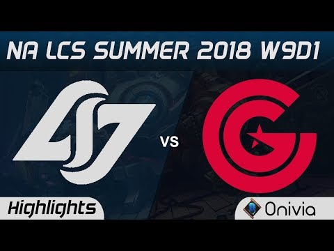 CLG vs CG Highlights NA LCS Summer 2018 W9D1 Counter Logic Gaming vs Clutch Gaming by Onivia