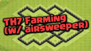 Clash of clans - SpeedBuilding - HDV 7 Farming - Propulseur d'air