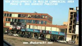 Muslim Commercial Shopping Dining Entertainment At Arabian Sea  Phase 6 Dha Karachi  Pakistan.mpg