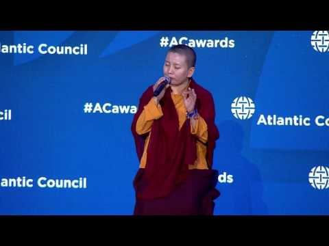 2017 Freedom Award Atlantic Council presentation to Ani Choying Drolma