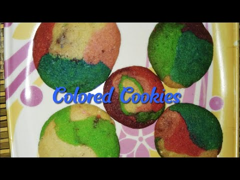 How to make simple Colored Cookies at home|Colored Cookies recipe without brown sugar|Cookies recipe