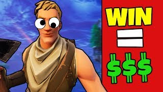 *EASY* WINNING $$$ PLAYING FORTNITE!!! (Stream Snipe LiveStream Challenge)