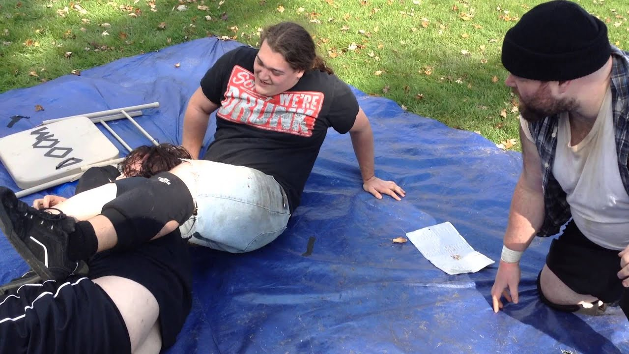 a 2 on 1 handicap match backyard wrestling youtube