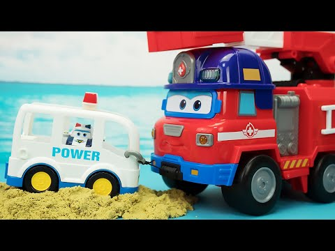 超级飞侠会说话的大勇多功能消防车