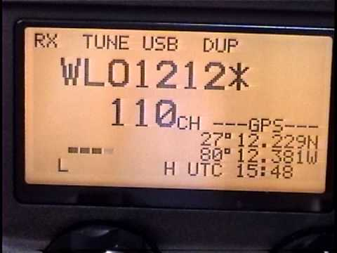 Icom M-802 Video #6, WLO, Radiotelephone Calls, Ship-to-Shore Telephone Calls