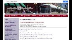 How to File an Assumed Name Locally in Dallas County, Texas