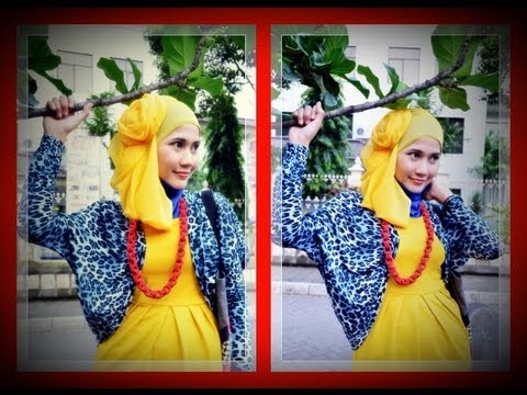 Tutorial Hijab Modern Paris Model Hijab Terbaru Turban
