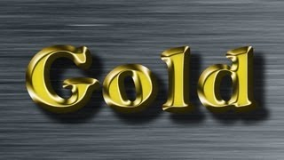 Gold Text Effect - Photoshop Tutorial