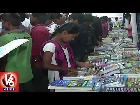 Huge Response For Hyderabad Book Fair In Karimnagar District | V6 News