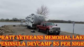 $5 Per Night Lake Side Camping & Fishing Pratt Kansas