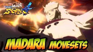 Naruto Ultimate Ninja Storm 1-4 - Madara Movesets