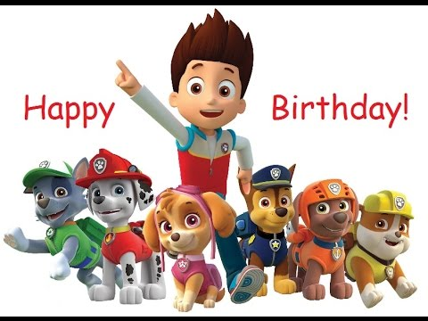 Paw Patrol Happy Birthday Song Chase Ryder And Friends Party Youtube