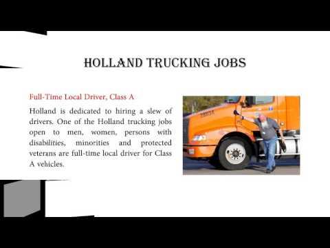 Holland Trucking Jobs