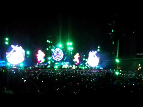Coldplay opening in Stockholm Stadium Sweden 2012 Hurts Like Heaven