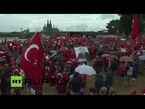 LIVE: Pro-Erdogan protesters rally in Cologne