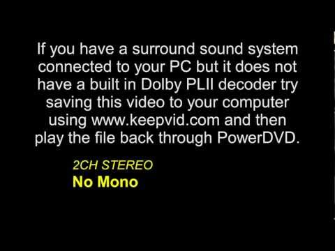 Surround Sound Example for YouTube (Dolby Pro Logic II)