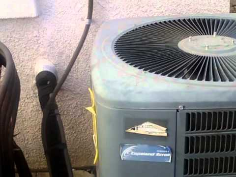 hvac a look at my goodman a c unit and my honeywell 4000 thermostat rh youtube com