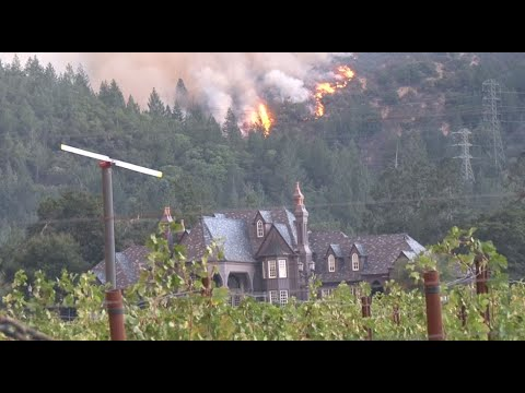 WINE COUNTY FIRE:  Wildfire Burning Above Sonoma County Winery Saturday morning