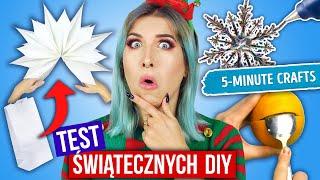 TESTUJĘ ŚWIĄTECZNE DIY z 5-Minute Crafts  Lifehacki na Święta  | Agnieszka Grzelak Vlog