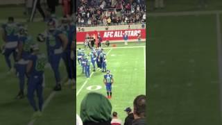 Odell Beckham Jr dancing at the 2017 Pro Bowl game
