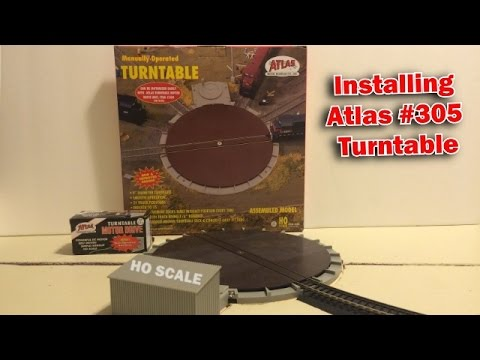 installing atlas 305 turntable with 304 motor drive youtube rh youtube com Atlas Switch Wiring Atlas O Turntable and Fastrack