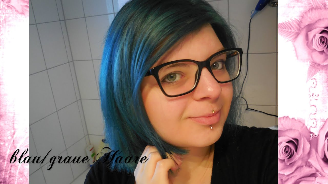 blau grau haarfarbe youtube. Black Bedroom Furniture Sets. Home Design Ideas