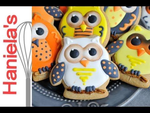owl decorated cookies for halloween hanielas - Halloween Cookie Decorations