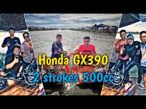 Thai Boat Racing | Honda gx390 vs 2 strokes 500cc