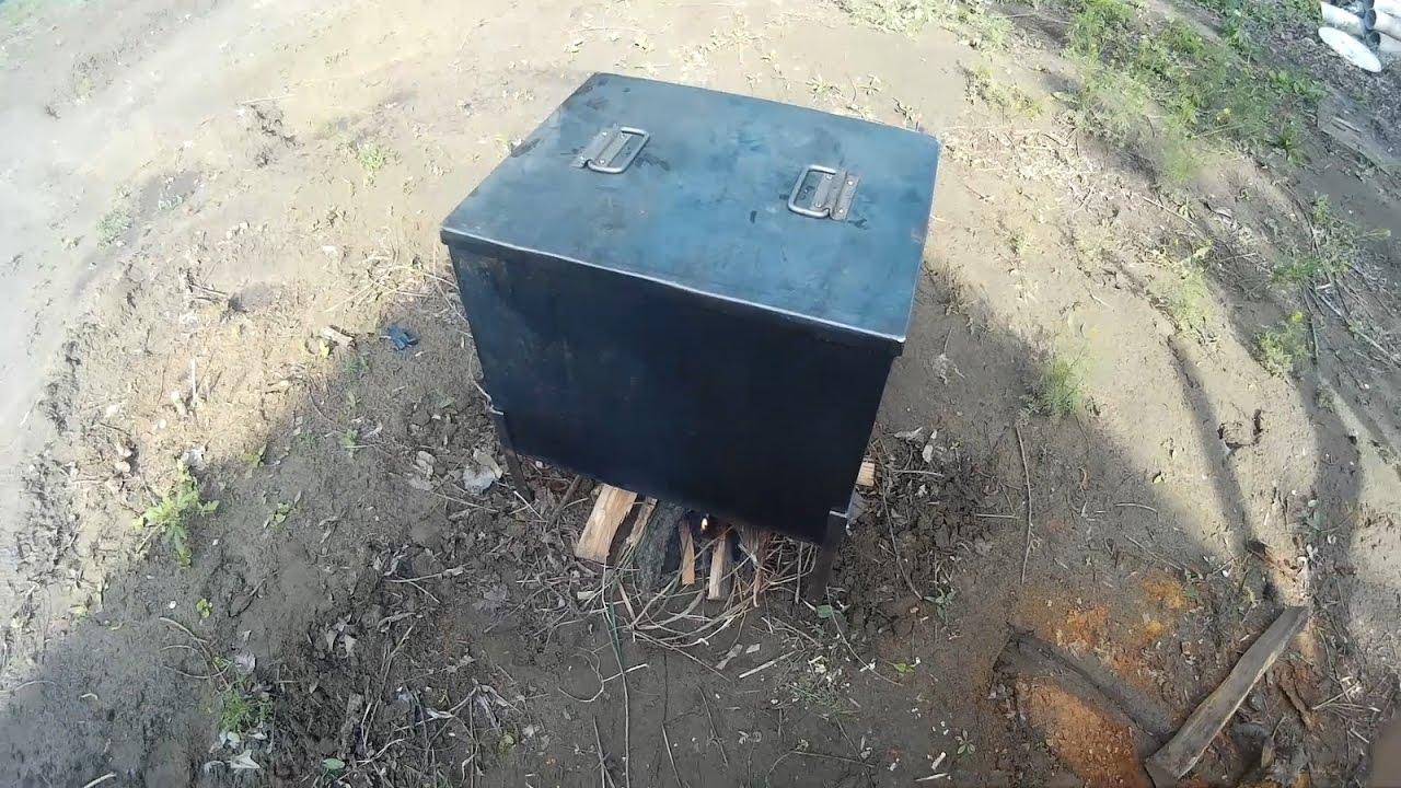 Как сделать коптилку горячего копчения видео фото 104