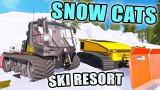 CAT GRADERS | BUILDING SKI RESORT | BOX PLOW | FARMING SIMULATOR 2017