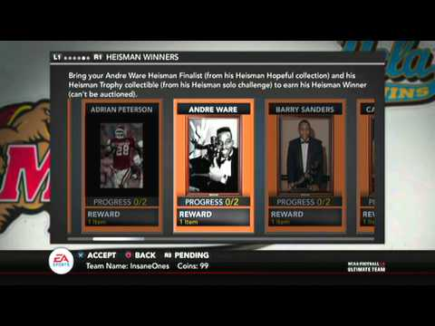 NCAA 14 Ultimate Team | Andre Ware Heisman DONE!