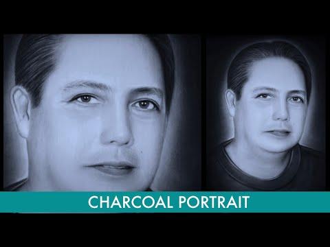 Charcoal Portrait Painting [Hon. Judge Norman V. Pamintuan]