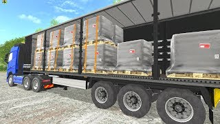 "[""Loading pallets Volvo FH16 750 Northern Germany"", ""forklift"", ""loading"", ""big load"", ""pallets"", ""funny"", ""accident"", ""volvo"", ""750"", ""northern"", ""truck"", ""volvo fh16"", ""fh"", ""lkw"", ""farming"", ""simulator"", ""trucks"", ""multiplayer"", ""farmer"", ""traktorji v"
