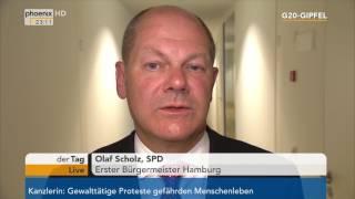 G20-Gipfel: Hamburgs Bürgermeister Olaf Scholz gibt Statement