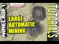 Minecraft PS4 - LARGE AUTOMATIC MINING - How To - Tutorial ( PS3 / XBOX ) WII