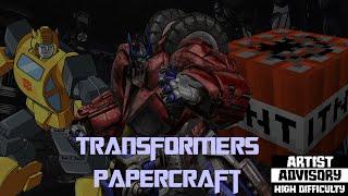 transformers en papercraft