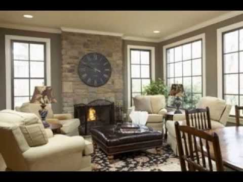 Great Family room paint color ideas - YouTube