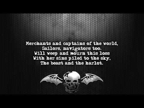 Avenged Sevenfold  Beast And The Harlot Lyrics  screen Full HD