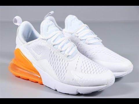 Nike Air Max 270 White Orange Running Sport Shoes From Robert
