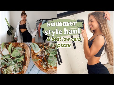 summer style haul *try-on* & low carb pizza | WEEK VLOG 4