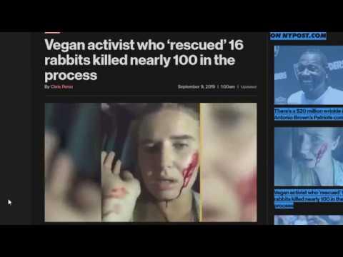 Insane Vegan Activist Saves 16 Rabbits by Killing 100 Rabbits