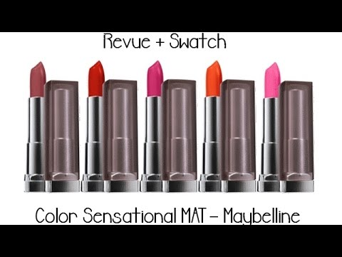 color sensational mat maybelline revue swatch - Gemey Maybelline Color Sensational