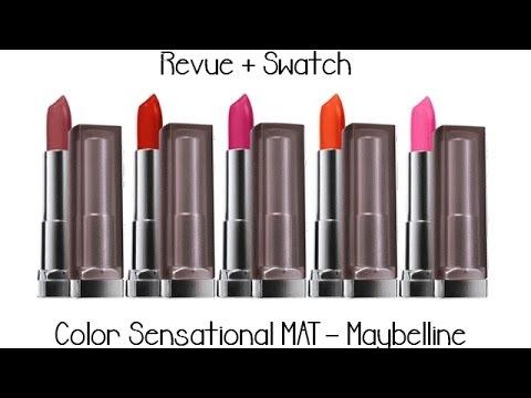 color sensational mat maybelline revue swatch - Rouge A Levre Gemey Maybelline Color Sensational