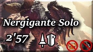 Monster Hunter World | Nergigante | 2'57 | Lance [No Rocksteady Mantle/Cat] ネルギガンテ ランス ソロ